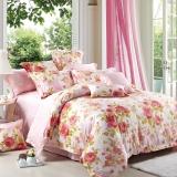 红富士生态家纺 生态纺750系列纯棉斜纹印花床上用品四件套 夏日馨香