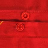 红富士生态家纺 幸福婚庆系列富贵床上用品四件套FN9003 梦中的婚礼 红
