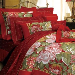 红富士生态家纺 幸福中国风组合套件/婚庆床上用品六件套HP-DL2001 国色天香