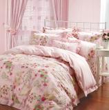 红富士生态家纺 安全健康床上用品 FN-16补充维生素美颜四件套 玫瑰琴弦粉红