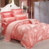 红富士生态家纺 幸福婚庆系列经典奢华床上用品六件套 艾菲尔花园